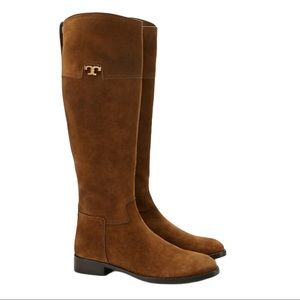 Tory Burch Wembley Suede Riding Boots Size 6